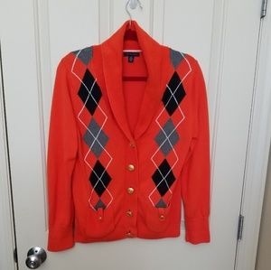 Rare! Tommy Hilfiger Cardigan Sweater Size Large